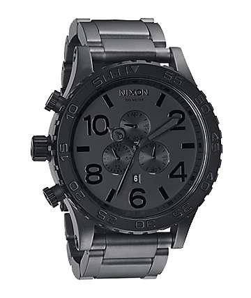 Nixon 51-30 Matte Black & Matte Gunmetal Mens Chronograph Watch