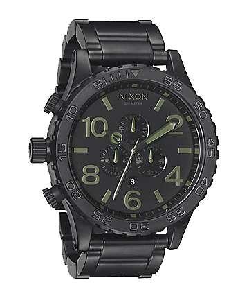 Nixon 51-30 Matte Black Surplus Chronograph Watch
