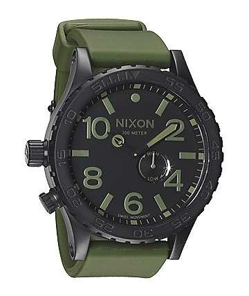 Nixon 51-30 PU Matte Black & Surplus Mens Chronograph Watch