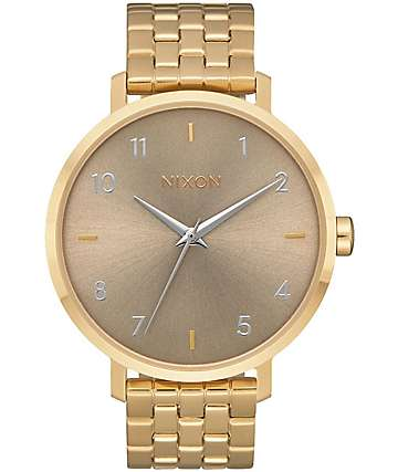 Nixon Arrow All Light Gold & Taupe Analog Watch