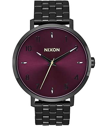 Nixon Arrow Black & Purple Watch
