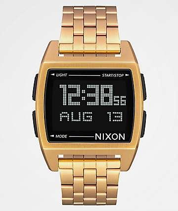 Nixon Base All reloj digital en todo oro