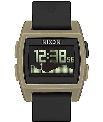Nixon Base Tide Black & Sand Digital Watch