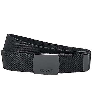 Nixon Basis Black Web Belt