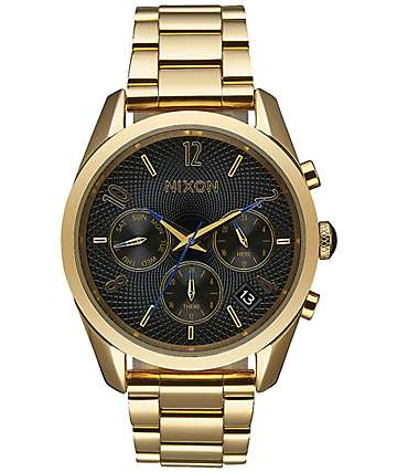 Nixon Bullet Chronograph 36 All Gold & Black Watch