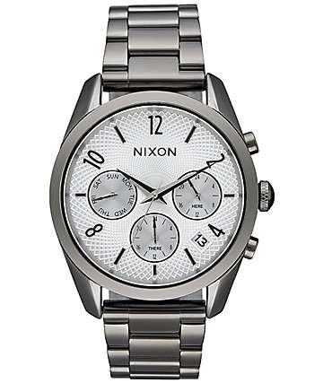 Nixon Bullet Chronograph 36 Gunmetal & Silver Watch