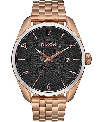 Nixon Bullet Rose Gold & Black Sunray Watch