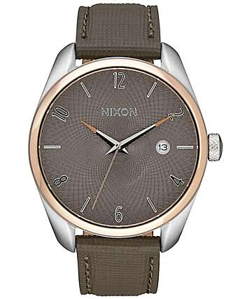 Nixon Bullet Rose Gold & Taupe Leather Watch