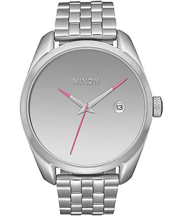 Nixon Bullet Silver & Mirror Analog Watch