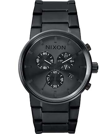 Nixon Cannon Chrono All Black Watch
