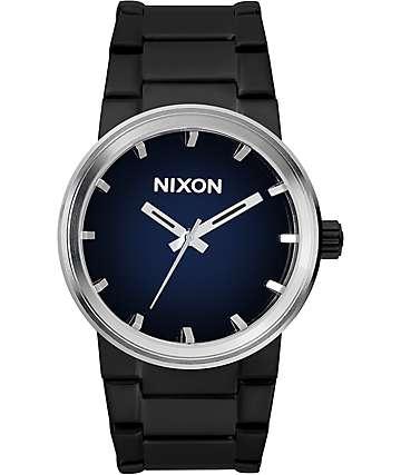 Nixon Cannon Ombre reloj en negro y azul