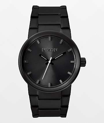 Nixon Cannon reloj analógico todo negro