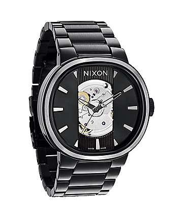 Nixon Capital Automatic All Black Mens Watch