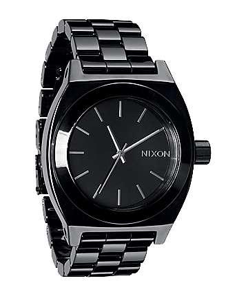 Nixon Ceramic Time Teller Black Analog Watch