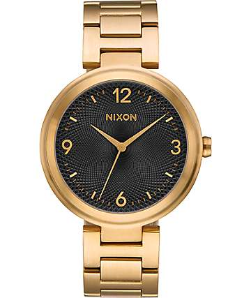 Nixon Chameleon Gold & Black Watch