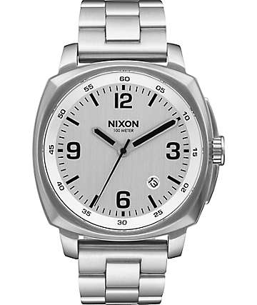 Nixon Charger Silver Watch