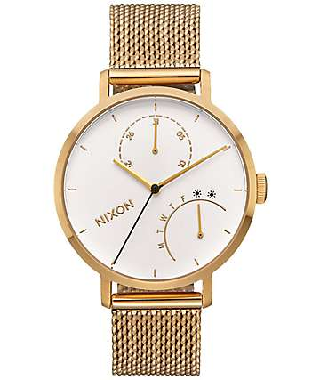 Nixon Clutch All Gold & White Watch