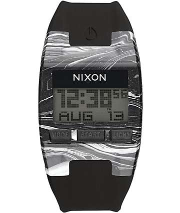 Nixon Comp Marbled Black & White Watch