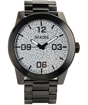 Nixon Corporal Black Crackle Watch