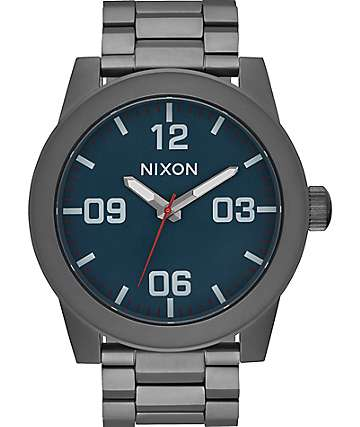 Nixon Corporal SS All Gunmetal & Dark Blue Watch