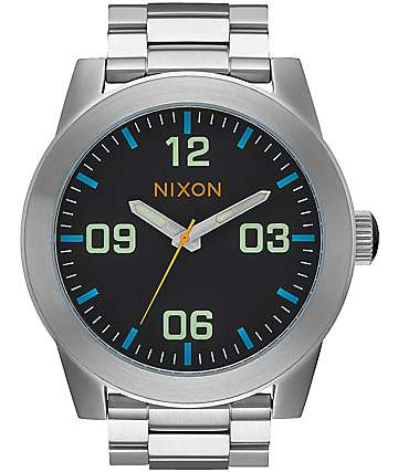 Nixon Corporal SS Black & Multi Watch