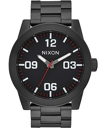 Nixon Corporal SS Black & White Watch