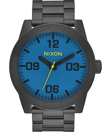 Nixon Corporal SS Black & Seaport Blue Watch