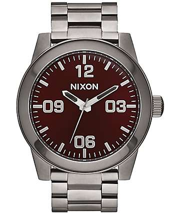 Nixon Corporal SS Gunmetal & Deep Burgundy Watch