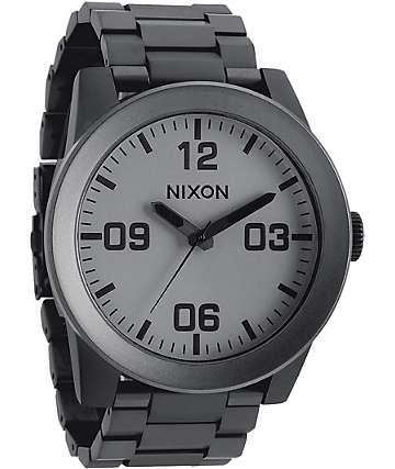 Nixon Corporal SS Matte Black & Matte Gunmetal Watch