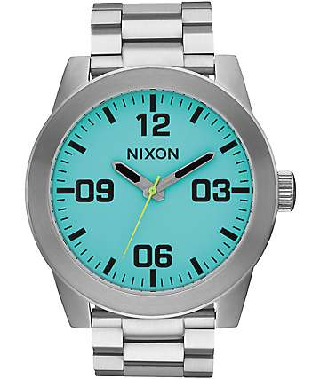 Nixon Corporal SS Seafoam Lum Analog Watch