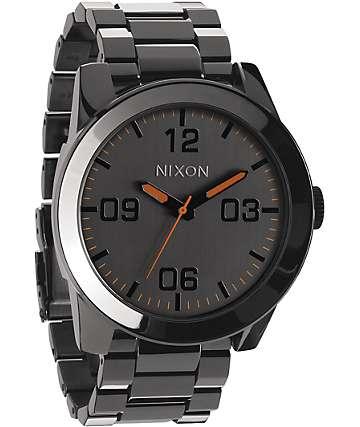 Nixon Corporal SS Steel Grey Analog Watch