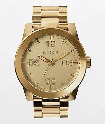 Nixon Corporal SS reloj en color oro