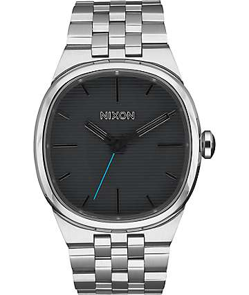 Nixon Expo Silver & Black Watch