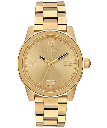 Nixon G.I. SS All Gold Analog Watch