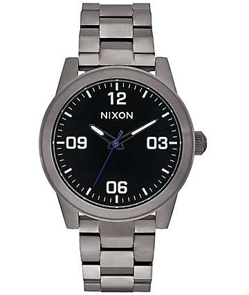 Nixon G.I. SS Gunmetal & Black Analog Watch