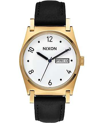 Nixon Jane Leather Gold & Black Watch