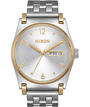 Nixon Jane Silver & Gold Watch