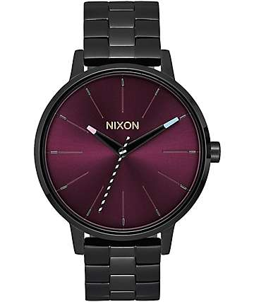 Nixon Kensington Black & Purple Analog Watch