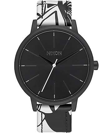 Nixon Kensington Leather Black & Bleach Watch