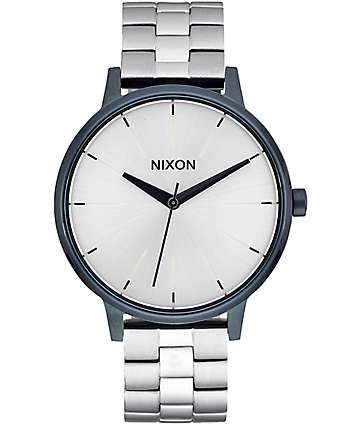 Nixon Kensington Navy & Silver Analog Watch