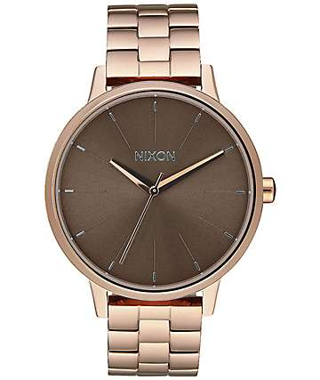 Nixon Kensington Rose Gold & Taupe Analog Watch