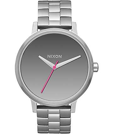 Nixon Kensington Silver & Mirror Analog Watch