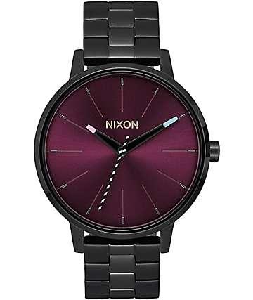 Nixon Kensington reloj analógico en negro y morado