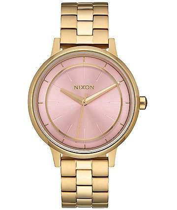 Nixon Kensington reloj en colores oro y rosa