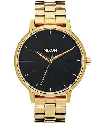 Nixon Kensington reloj en negro y color oro