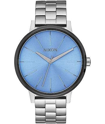 Nixon Kensington reloj en plata y azul