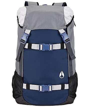 Nixon Landlock II 33L mochila en gris y azul marino