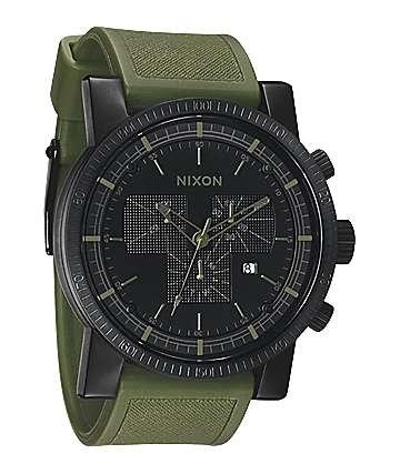 Nixon Magnacon Matte Black & Surplus Chronograph Watch