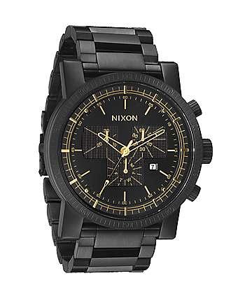 Nixon Magnacon SS Matte Black Chronograph Watch