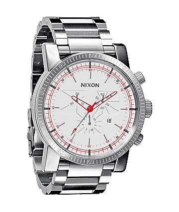 Nixon Magnacon SS White SR Mens Chronograph Watch